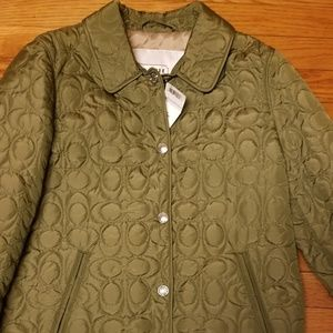 Coach Jackets & Coats - NEW Coach SIGNATURE C QUILTED HACKING JACKET